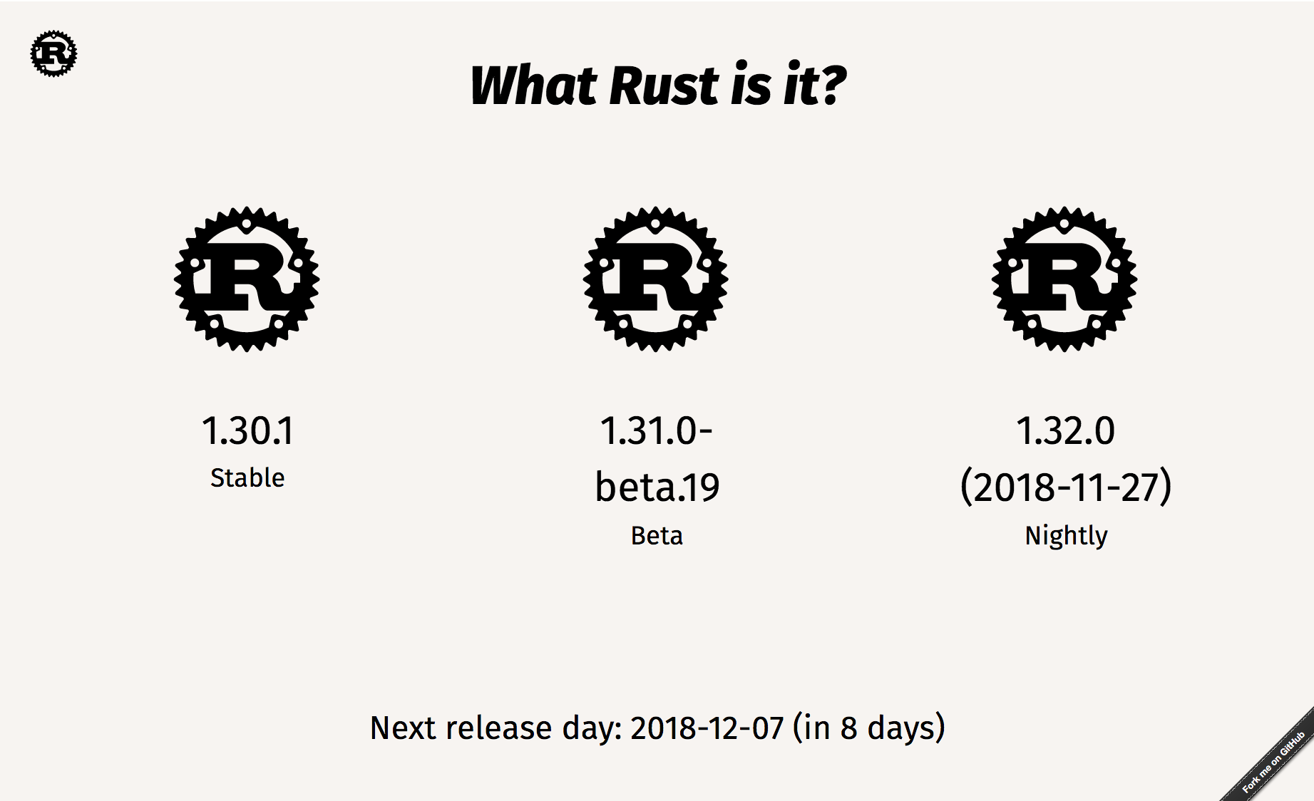 What Rust is it? - Screenshot of the website