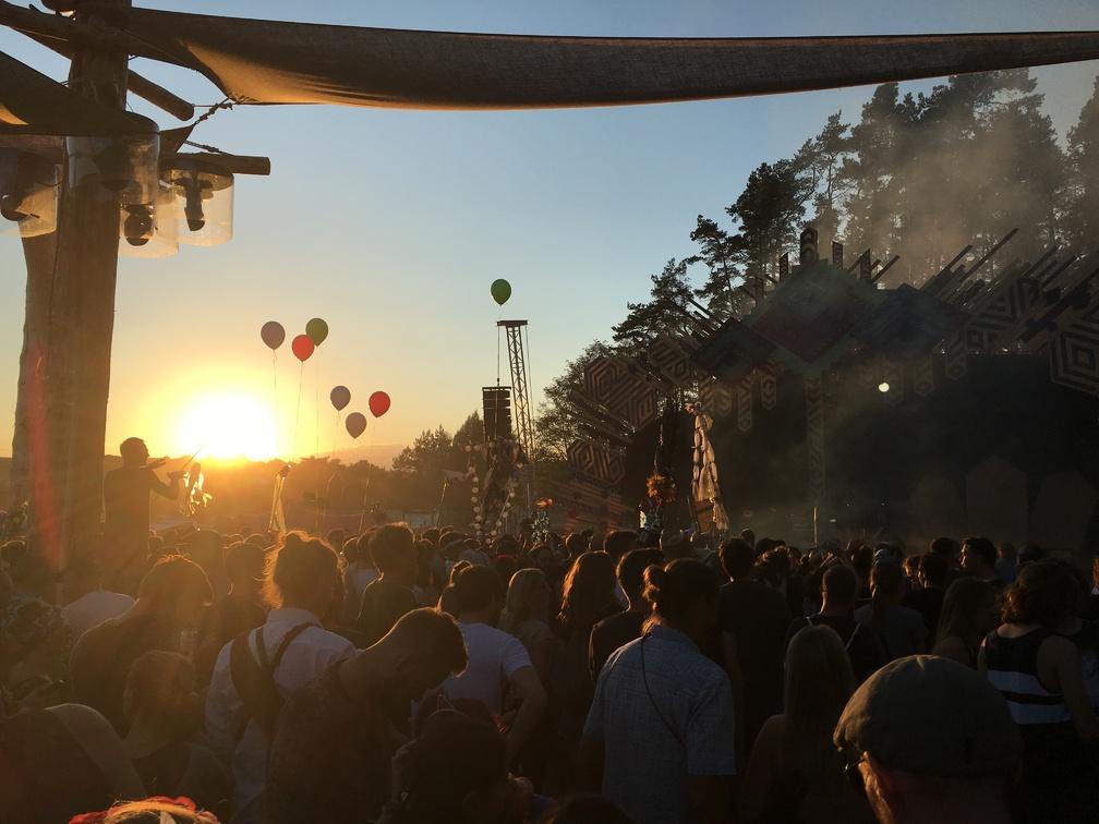 3000Grad Festival view