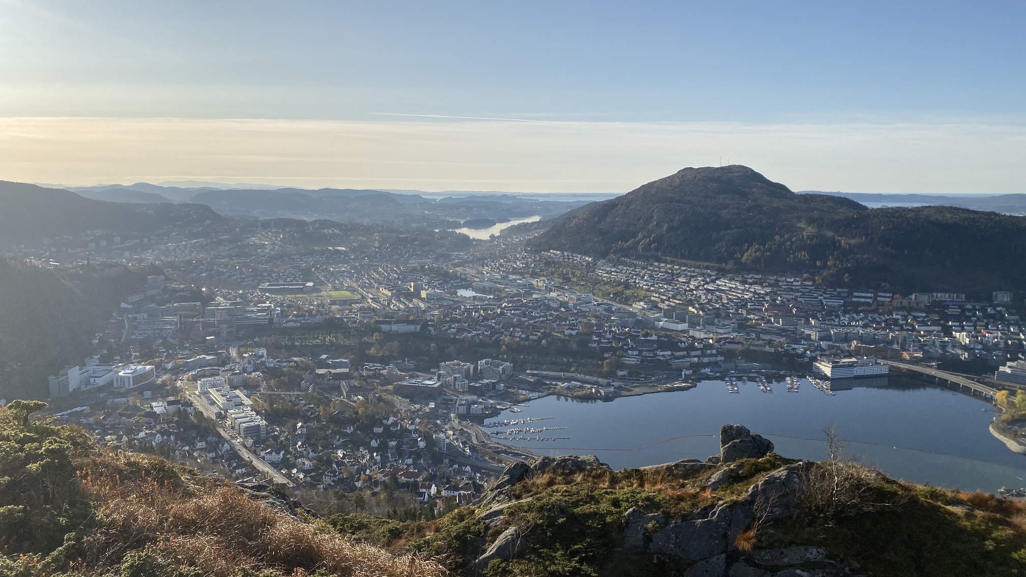View from the mountain above Bergen