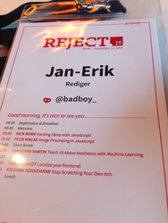 rejectjs badge